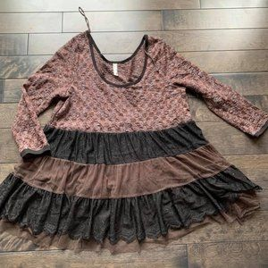Free People Lace Babydoll Top